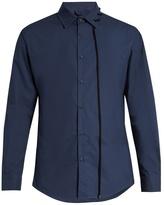 Craig Green Laced-collar long-sleeved cotton shirt