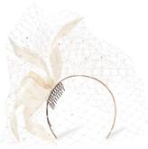 Philip Treacy Crystal-embellished Veiled Headpiece - White