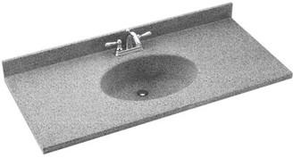 "Swan Chesapeake Solid Surface 49"" Single Bathroom Vanity Top Top Finish: Gray Granite"