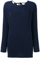 Semi-Couture Semicouture - boat neck ribbed jumper - women - Cotton - M