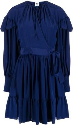 M Missoni Ruffled Detail Tie Fastening Dress