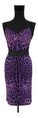 Dolce & Gabbana Purple Silk Skirts