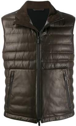 Ermenegildo Zegna x Maserati padded leather gilet