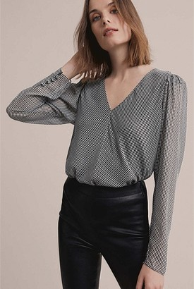 Witchery Houndstooth Blouse