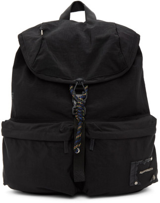 Ader Error Black Torn Label Backpack