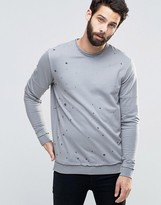 ONLY & SONS Crew Neck Sweat with Oil wash detail