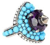 Gucci Crystal and bead-embellished ring
