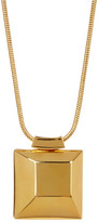 Diane von Furstenberg Big Cube Pendant Necklace