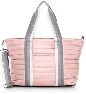 Think Royln Wingman Pearlized Quilted Tote
