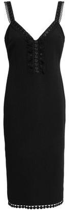Boutique Moschino Lace-trimmed Cloque Dress