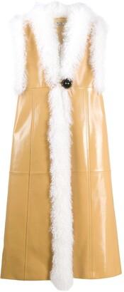Miu Miu Sleeveless Shearling Coat