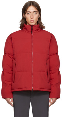 The Very Warm SSENSE Exclusive Red Quilted Puffer Jacket