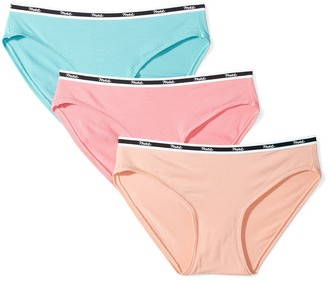 Mae Amazon Brand Women's Matte Logo Elastic Modal Bikini 3 Pack