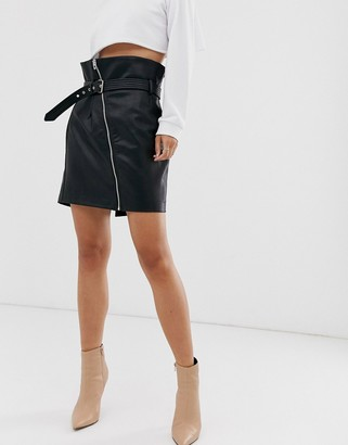 Blank NYC high waisted faux leather skirt