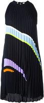 Versace pleated angular stripe dress - women - Silk/Polyamide/Spandex/Elastane/Viscose - 38