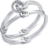 INC International Concepts 2-Pc. Silver-Tone Pavé Hinged Bangle Bracelet Set, Only at Macy's