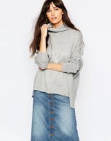 Just Female Carla Rollneck Sweater in Gray