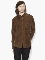 John Varvatos Silk Military Shirt