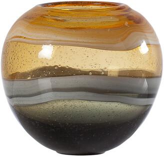 Torre & Tagus Andrea Swirl Glass Sphere 6.75 Vase