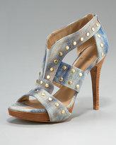 Studded Denim Sandal