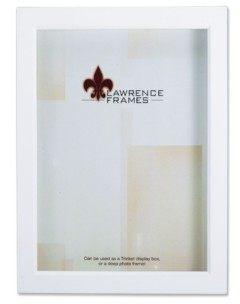 """Lawrence Frames 795246 White Wood Treasure Box Shadow Box Picture Frame - 4"""" x 6"""""""