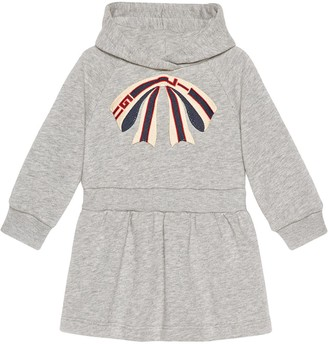 Gucci Kids Baby cotton dress with Gucci stripe