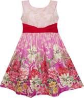Sunny Fashion FV51 Girls Dress Sleeveless Blooming Flower Garden Print
