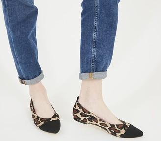 Office Forward Knit Ballet Shoes New Leopard Knit