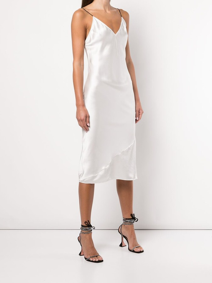 Thumbnail for your product : Fleur Du Mal Fitted Silk Slip Dress