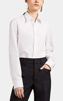 Maison Margiela Women's Reverse-Seam Crisp Blouse - White