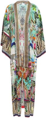 Camilla Champagne Coast Printed Silk Crepe De Chine Kimono