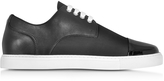 DSQUARED2 Tux Black Leather and Fabric Men's Sneaker
