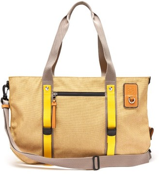 eye/LOEWE/nature Leather-trimmed Canvas Holdall - Beige