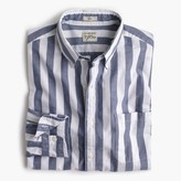 J.Crew Secret Wash shirt in striped heather poplin