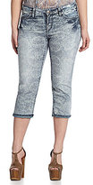 Silver Jeans Co. Woman Aiko Printed Denim Capri Pants