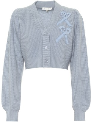 LoveShackFancy Avignon cropped cashmere cardigan