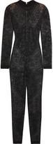 Balmain Stretch-lace Jumpsuit - Black