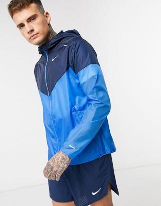 Nike Running windrunner jacket in blue