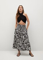 Thumbnail for your product : MANGO Ruched details skirt