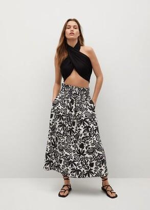 MANGO Ruched details skirt