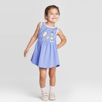 Dr. Seuss Toddler Girls' Sleeveless Oh The Places Youll Go Dress -