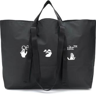 Off-White Large Logo-Print Tote Bag