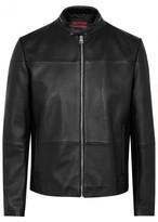 Hugo Lefox Black Leather Jacket