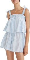 Madewell Tie-Strap Overlay Cover-Up Romper