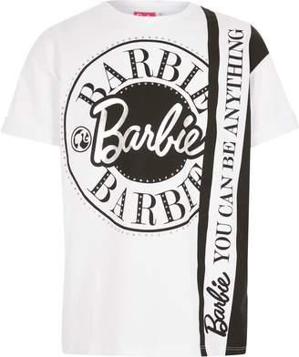 River Island Girls Barbie White printed T-shirt