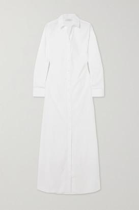 LA COLLECTION Ramona Cotton-blend Poplin Maxi Shirt Dress - White