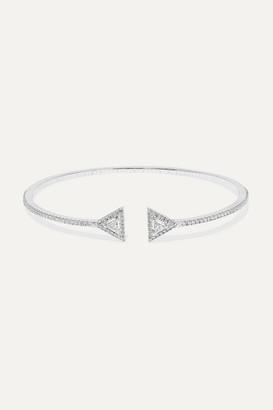 Messika Thea Skinny 18-karat White Gold Diamond Cuff