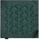 EEHB0264 Dark Green Lime Green Paisley Microfiber Pocket Square Happy For Working Day Hanky By Epoint