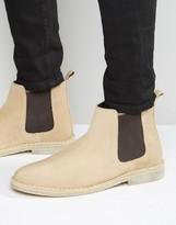 Asos Chelsea Desert Boots in Stone Suede