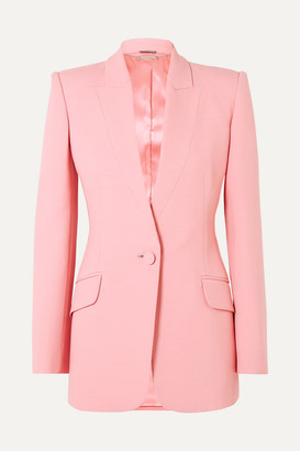 Alexander McQueen Wool-blend Blazer - Baby pink